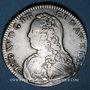 Coins Louis XV (1715-1774). 1/2 écu aux lauriers 1728. Besançon. Atelier rare !
