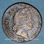 Coins Louis XV (1715-1774). 1/2 sol à la vieille tête 1771. Besançon