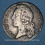 Coins Louis XV (1715-1774). 1/5 écu au bandeau 1766 &. Aix