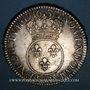 Coins Louis XV (1715-1774). Ecu vertugadin 1716 &. Aix