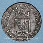 Coins Louis XV (1715-1774). Liard à la vieille tête 1771. Besançon