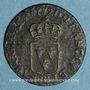 Coins Louis XV (1715-1774). Liard au buste enfantin 1720 BB. Strasbourg