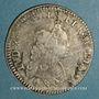 Coins Louis XV (1715-1774). Monnayage particulier de Strasbourg. 40 sols 1716 BB réformé sur 44 sols 1712
