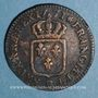 Coins Louis XV (1715-1774). Sol à la vieille tête 1771 BB. Strasbourg