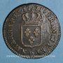 Coins Louis XV (1715-1774). Sol à la vieille tête 1771 D. Lyon
