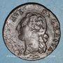 Coins Louis XVI (1774-1793). 1/2 sol 1782 &. Aix. Différent sous le buste : arc