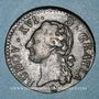 Coins Louis XVI (1774-1793). 1/2 sol 1791 MA. Marseille