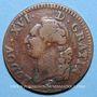 Coins Louis XVI (1774-1793). Sol 1791 A.