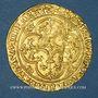 Coins Charles VI (1380-1422). Ecu d'or à la couronne. 1ère émission (11 mars 1385). Point 4e, Montpellier