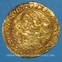 Coins Charles VII (1422-1461). Ecu d'or à la couronne. 1er type (21 janvier 1423). Tournai (point 16e)