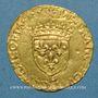 Coins François I (1515-1547). Ecu d'or au soleil, 12e type. L Bayonne