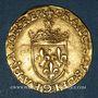 Coins François I (1515-1547). Ecu d'or au soleil, 5e type. Paris (point 18e)