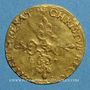 Coins Louis XIII (1610-1643). Ecu d'or au soleil, 1er type. 1615 S. Troyes
