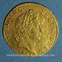 Coins Louis XIV (1643-1715). Louis d'or aux insignes 1704A. Réformation