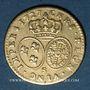 Coins Louis XV (1715-1774). Demi-louis aux lunettes 1727. Reims