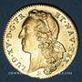 Coins Louis XV (1715-1774). Double louis au bandeau 1749 B. Rouen