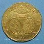 Coins Louis XV (1715-1774). Double louis au bandeau 1766 K. Bordeaux