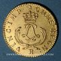 Coins Louis XV (1715-1774). Louis d'or Mirliton, palmes courtes, 1723 R. Orléans