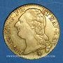 Coins Louis XVI (1774-1793). Louis d'or au buste nu 1786 A.