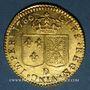 Coins Louis XVI (1774-1793). Louis d'or au buste nu 1786 D. Lyon. 2e semestre
