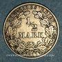 Coins Allemagne. 1/2 mark 1911 D