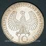 Coins Allemagne. 10 mark 1972 D. Jeux olympiques. Flamme