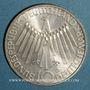 Coins Allemagne. 10 mark 1972 D. Jeux olympiques. Spirale, in München