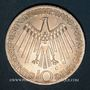 Coins Allemagne. 10 mark 1972 G. Jeux olympiques. Spirale, in München
