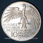 Coins Allemagne. 10 mark 1972 G. Jeux olympiques. Stade
