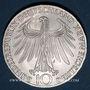 Coins Allemagne. 10 mark 1972 J. Jeux olympiques. Sportif et sportive