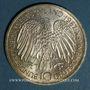 Coins Allemagne. 10 mark 1987 G. Traité de Rome