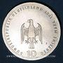 Coins Allemagne. 10 mark 1989 J. Port de Hambourg