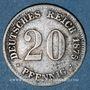 Coins Allemagne. 20 pfennig 1875 G