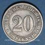 Coins Allemagne. 20 pfennig 1890 D