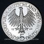 Coins Allemagne. 5 mark 1964 J. Fichte