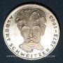 Coins Allemagne. 5 mark 1975 G. Albert Schweitzer