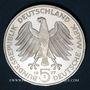 Coins Allemagne. 5 mark 1977 J. Charles Frédéric Gauss
