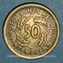 Coins Allemagne. République de Weimar. 50 rentenpfennig 1924 D