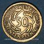 Coins Allemagne. République de Weimar. 50 rentenpfennig 1924 F