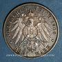 Coins Bade. Frédéric II (1907-1918). 3 mark 1908 G