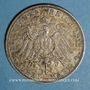 Coins Bade. Frédéric II (1907-1918). 3 mark 1911 G