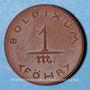 Coins Boldixum. Föhr. 1 mark (1920). Porcelaine