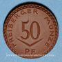 Coins Freiberg. 50 pf 1921. Porcelaine