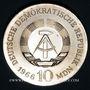 Coins République Démocratique allemande. 10 mark 1966. 125e anniversaire de K. F. Schinkel