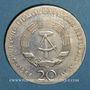 Coins République Démocratique allemande. 20 mark 1966. 250e anniversaire de la mort de Leibnitz