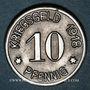 Coins Siegen. Ville. 10 pfennig 1918. Fer