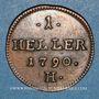 Coins Allemagne. Possessions autrichiennes. Joseph II (1780-1790). 1 heller 1790 H. Hall