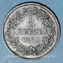 Coins Bade. Frédéric I, grand duc (1856-1907). 1/2 kreuzer 1863