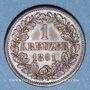 Coins Bade. Frédéric I, grand duc (1856-1907). 1 kreuzer 1861