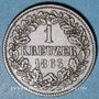 Coins Bade. Frédéric I, grand duc (1856-1907). 1 kreuzer 1863